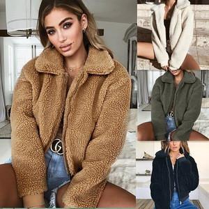 Latest  Design Warm Women Winter Fleece  Coat Short Jacket Design