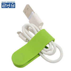 Multi purpose magnet phone holder earphone headphone winder cable silicone cord holder clip