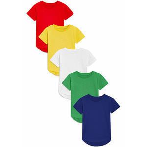 Popular  pure color 100% cotton kids plain t shirts bulk wholesale summer short sleeve baby t shirt blank