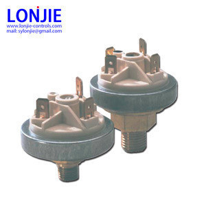 Pressure switch for multi-functional gas controls valves