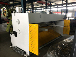 QC11k-16x3200 E21s system guillotine shearing machine for thick metal pipe cutting