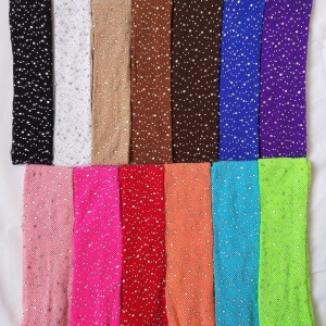 RTS Wholesale 13 Candy Colors Fashion Girls Kid Mesh Fishnet Net Pattern Rhinestone Pantyhose Baby Glitter Bedazzled Tights