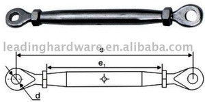 Stainless steel closed body turnbuckle eye+eye+type(Marine hardware)