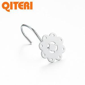 The latest flower curtain hardware accessories shower hooks