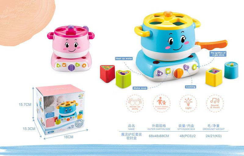 Baby toys cooking pot with light and sound