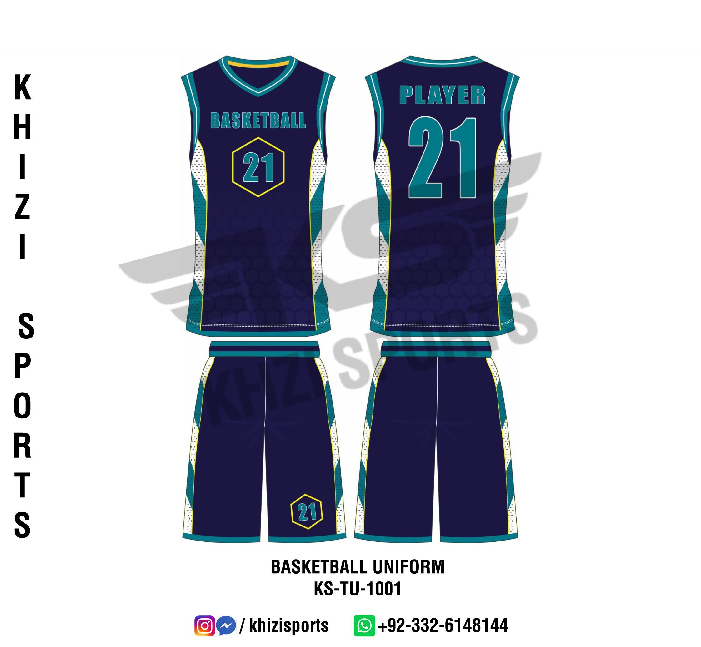 Custom Sublimated Basketball Uniform