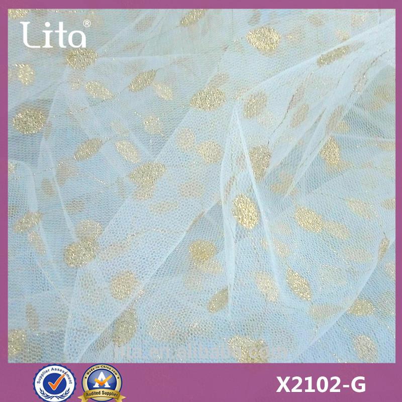 Lita X2102-G# 100% nylon lace fabric good quality mesh fabric cheap price net fabric for girl dress