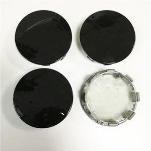 "83mm 3 1/4"" Car ABS Black Custom Hub Wheel Center Hub Caps"