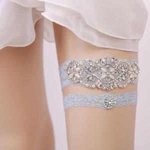 9016 Wedding Crystal Silver Bridal Garter