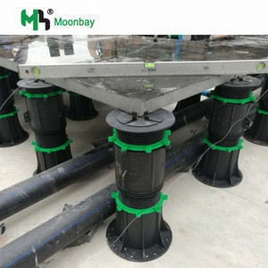 Adjustable plastic spacers pedestals for construction