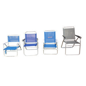Cheap Manufacturer low sit stripy oversized folding aluminium outdoor beach chairs