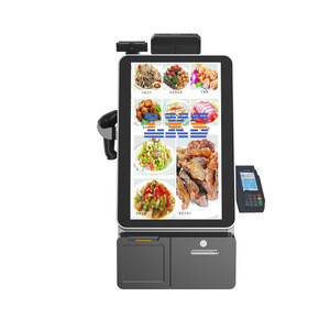 China cheap supermarket retail mobile windows cash register card cashier machine all in one pos wireless data pos system