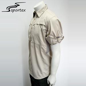 Custom Men Long Sleeve Anti Mosquito 100% Polyester Uv Dye Sublimation Fishing Shirt