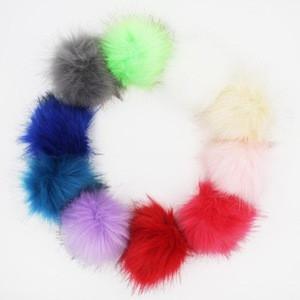 DIY Wholesale 10CM Faux Fur Pom Pom Ball for Keychain Ornaments Pendant