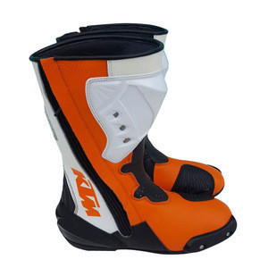 Genuine Cow hide Leather Motorbike Touring Boot Custom Made Motorcycle Boots Long & Short all sizes