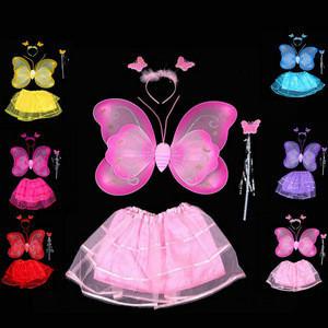 Girls Christmas Costume butterfly sets costume girls festival wear