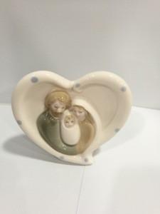 High quality heart-shaped pottery sancta familia pottery