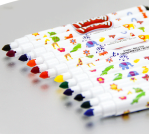 HIgh Quality OEM factory price  12 colors markers washable super markers for school art &activity