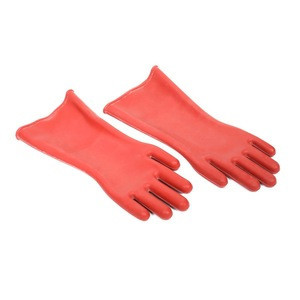 High quality red heavy duty rubber insulated work gloves