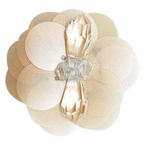 Hot selling sequin pearl center bead flower /beaded sequin flower on garment accessories