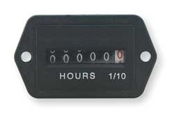 Hour Meter Electrical 2-Hole Rectangular