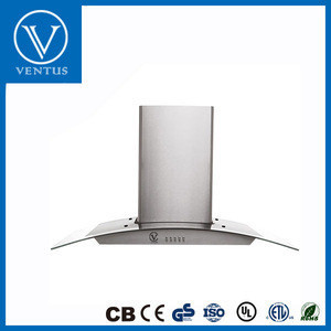 Kitchen Exhaust Stainless Steel Range Hood With LED Light