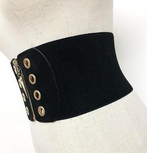 Knitted Elasticity Waist Female Belts For Women Cummerbund Good Quality Corset Bodycon Slim Wide Belt Fashion