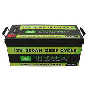 Light Weight Portable 12V 200Ah Li-Ion Battery Pack In ABS SLA Housing With Internal BMS