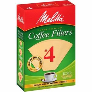 Melitta Natural Brown Basket Coffee Filter, #4