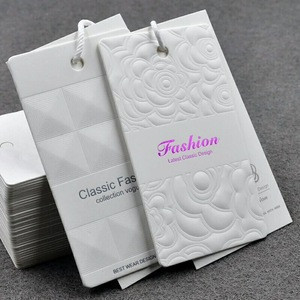 Men Garment Swing paper tags with embossed logo