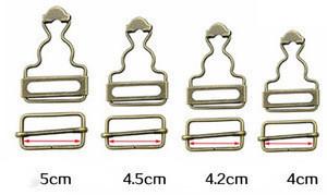 Metal adjustable strap overalls clip buckle for suspender