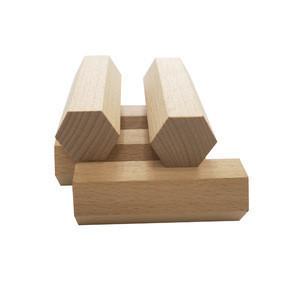 Over-sized Natural Wooden Hexagon Column Shape Blocks for Kids Giant Creations
