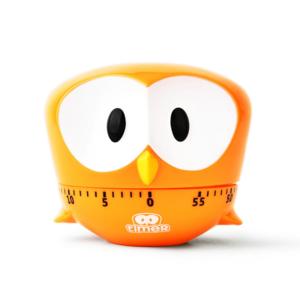 Promotional Gift Creative Cartoon Owl Timer Mechanical Alarm Clock Logo Customized Kitchen Timer