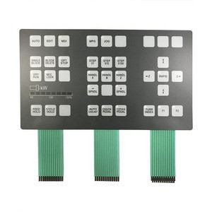 Silk Printing Polycarbonate Front Keypad Membrane Overlay Panels For Instruments