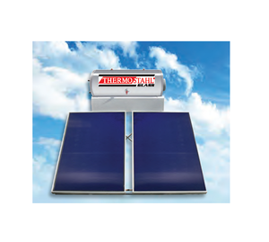 SLN 300/6 - Solar Water Heater with Pressed Collectors from Deep Exelasis Shipbuilding Aluminium - Solar System with Boiler