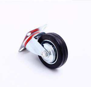 Swivel Brake 6 Inch Cast Iron Core Tread Solid Rubber Caster Wheel
