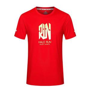 Wholesale Custom Printing Couple T Shirts Women Men Round Neck Sports Running T-shirt