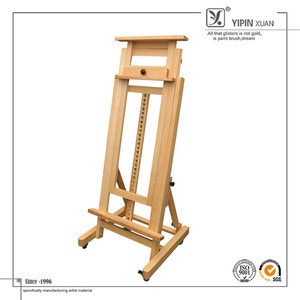 Wholesale Professional Wooden Material Floor Artist Easel For Supplier