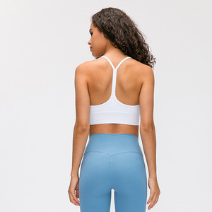 Women Active Wear Sexy Strapless Backless Padded Sports Bra