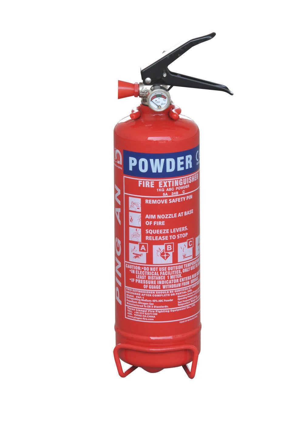 1 Kg ABC Dry Powder Portable Fire Extinguisher