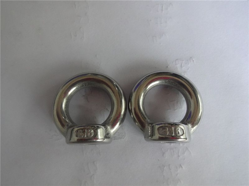 Stainless Steel 304/316 Lifting Eye nut with collar,M6 to M30,boat rigging