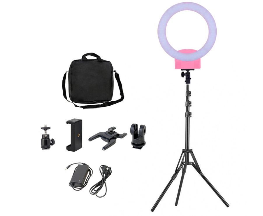 12inch Custom Rechargeable LED Ring Light Portable Beauty Salon Light LED with Mirror and Table Stand Holder