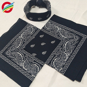 100% cotton magic multifunction headwear outdoor bandana for men