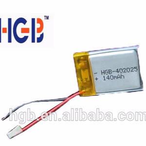 140mah li polymer battery for digital products battery