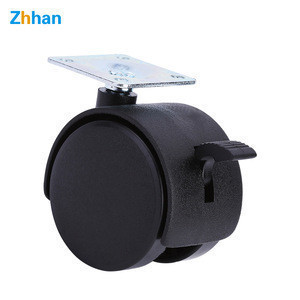 2 inches Luggage caster wheel flat nylon material office chair wheel furniture casters with brake