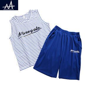 2017 Summer Children's Clothing Sets Cotton Striped Vest +Shorts 2 pieces Sets Big Boys Running Jogger Suit