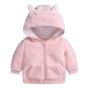 2018 Best Selling Cute Fleece Baby Hooded Coat
