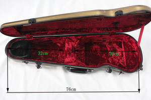 ABS plastic violin case 44  yinyun colorful violin cases for sale