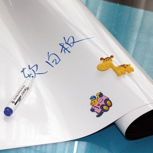 Adhesive Backing Magnetic Whiteboard White Board Sticker For Kids Room