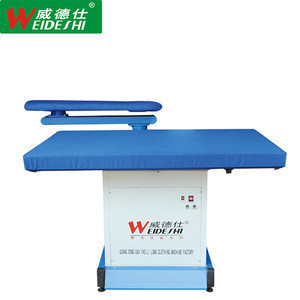 Air suction steam ironing board for dry cleaner